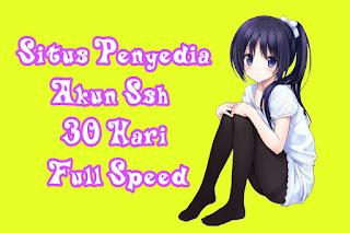 Situs Penyedia Akun Ssh 30 Hari Full Speed