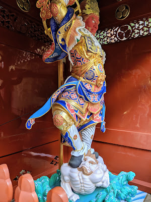 Tokyo to Nikko day trip: Guardian statue at Taiyuin Temple