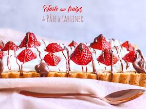 Tarte aux fraises chocolat noisette