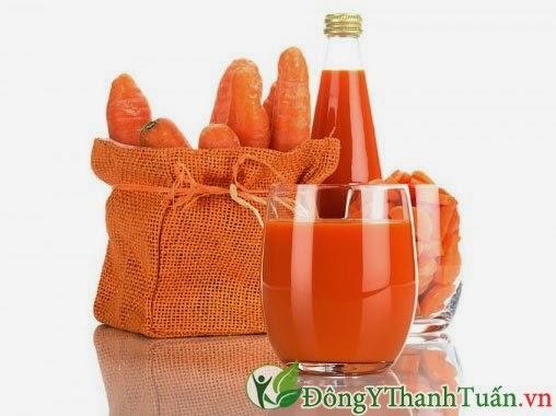 Cách chữa viêm họng cực hay - Nước ép cà rốt