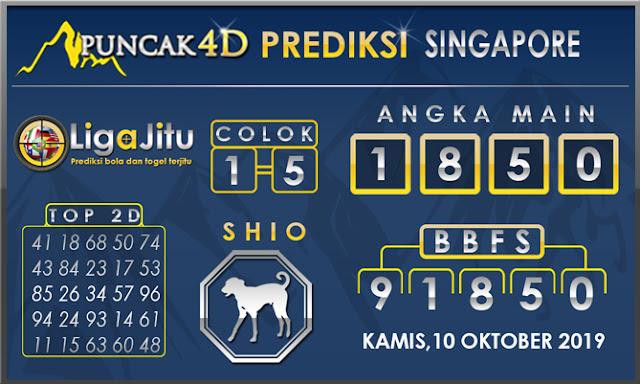 PREDIKSI TOGEL SINGAPORE PUNCAK4D 10 OKTOBER2019