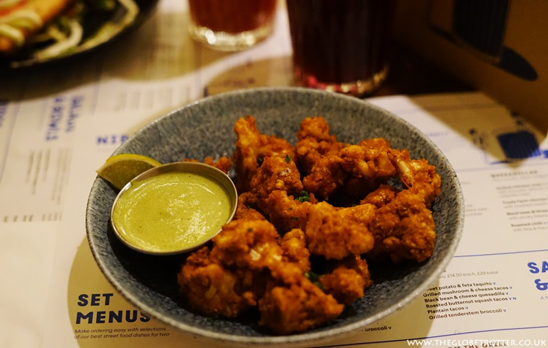 Crispy Cauliflower Bites at Wahaca Shoreditch