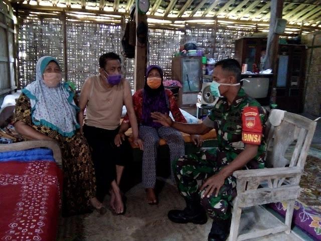 Kodim Sragen - Babinsa Nganti : Selalu Menjaga Kebersihan Kunci Utama Tangkal Virus Corona