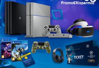 Logo PlayStation: vinci gratis Console, PS4 e biglietti Champions League