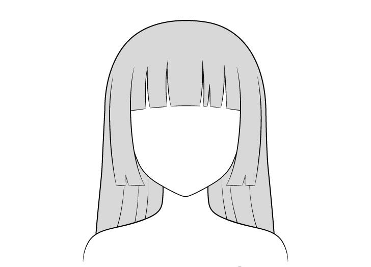 Pewarnaan rambut hime cut anime