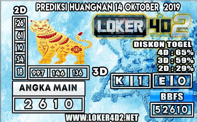 PREDIKSI TOGEL HUANGNAN POOLS LOKER4D2 14  OKTOBER 2019