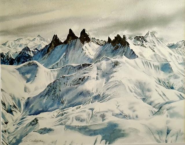 #Aquarelle montagne #Rhône Alpes