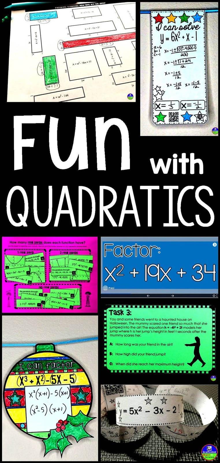 Scaffolded Math and Science: Fun with Quadratics