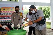 Polres Lombok Tengah Musnahkan Ribuan Liter Minuman Keras