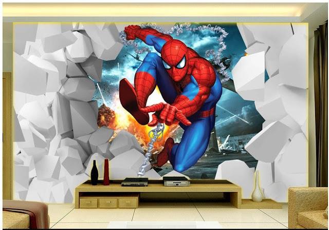 Spiderman Wall Mural Boy Room