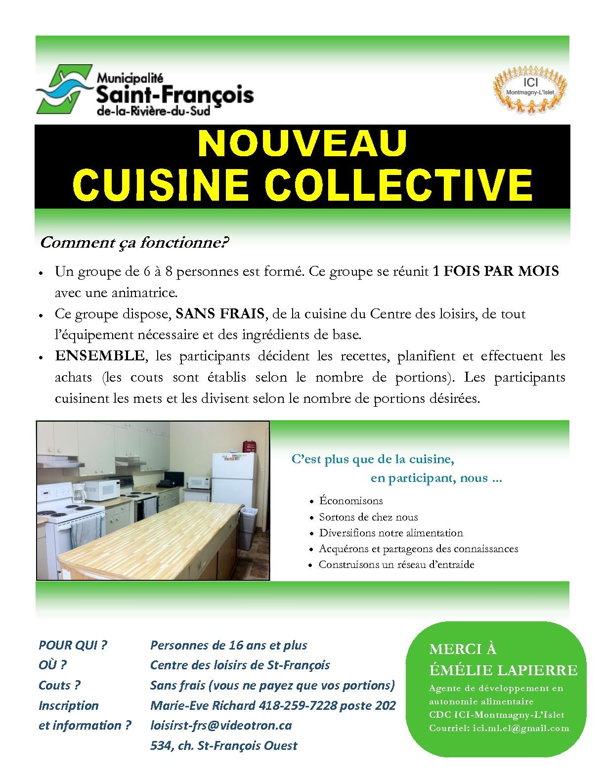 La cdc ici montmagny l 39 islet nouveau cuisine collective - Competence cuisine collective ...