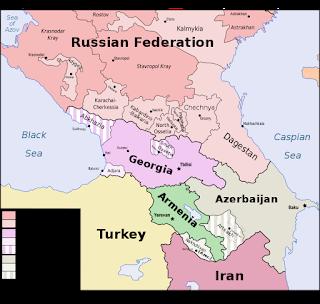 ロシア、トルコ、そしてイランの勢力圏が交わるコーカサスの地政学