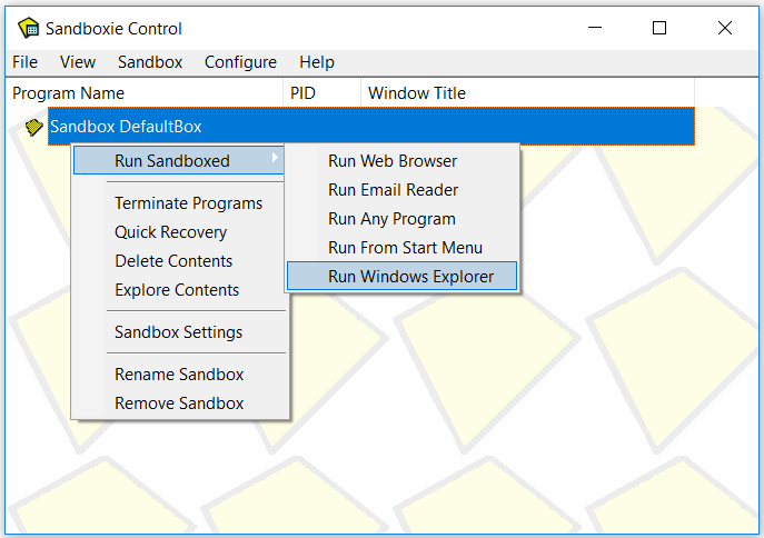 How To Use Sandboxie In Windows 10