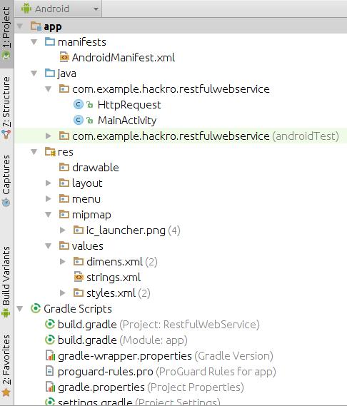 Tutoriales Hackro Estructura De Un Proyecto Android Con Android Studio