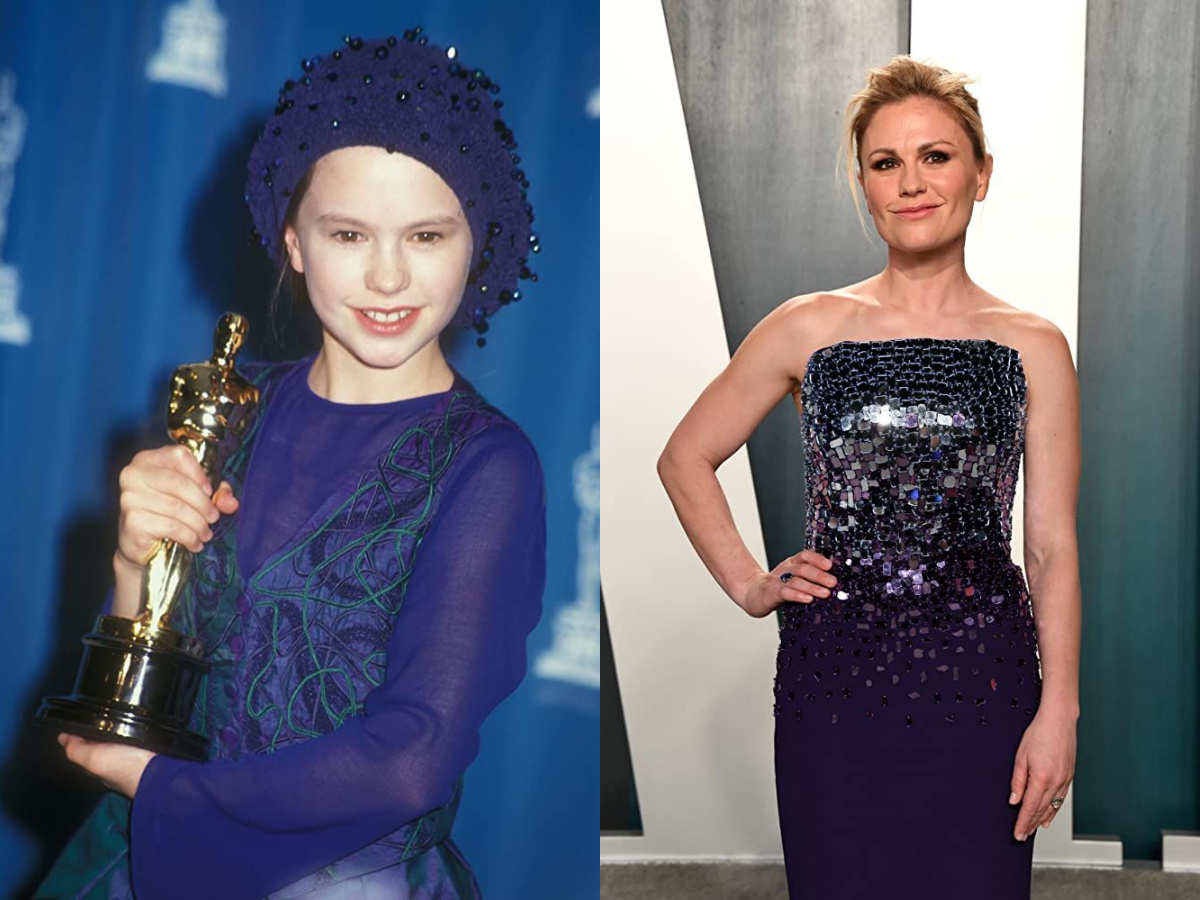 Anna Paquin then and now