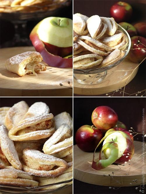 ciastka krucho-drożdżowe z jabłkami