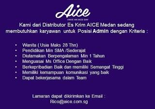 Lowongan Kerja di PT Aice Ice Cream
