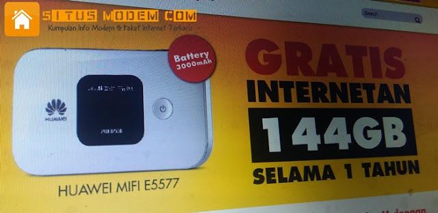 Baru !!! Program Bundling Modem 4G Indosat Ooredoo Gratis Kuota 144 GB Selama 1 Tahun