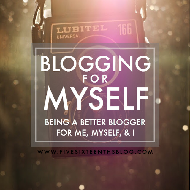 blogging for me myself and I
