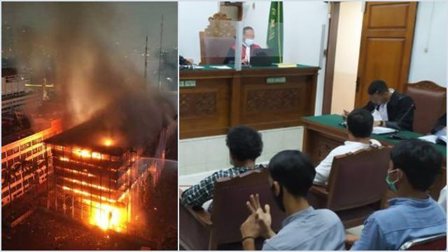 Lima Terdakwa Kebakaran Gedung Kejagung Divonis Satu Tahun Penjara, Satu Bebas