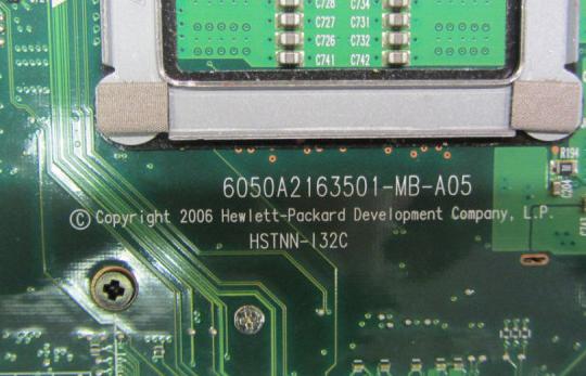6050A2163501-MB-A05 U34 HP COMPAQ 8510W Laptop Bios