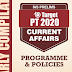 GS Score Target PT 2020 Programme & Policies Current Affairs PDF Download in English