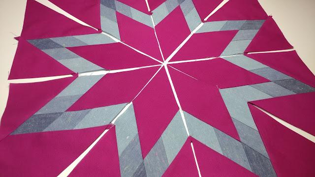 Making a star quilt