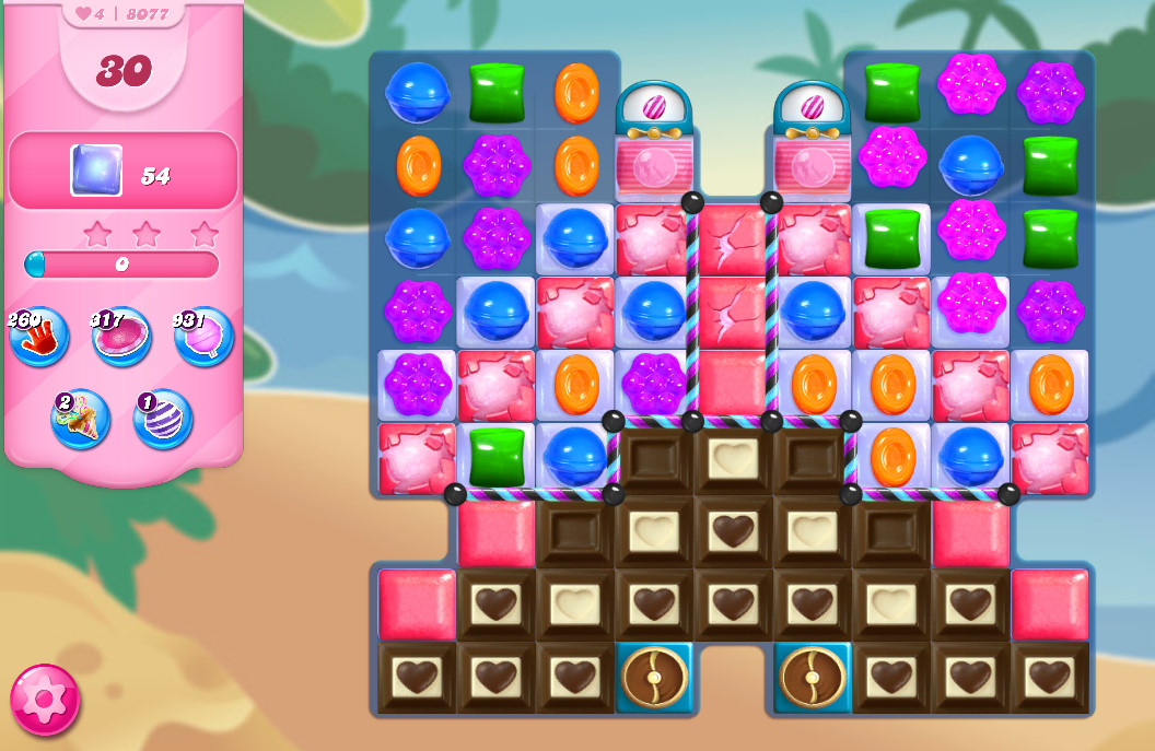 Candy Crush Saga level 8077