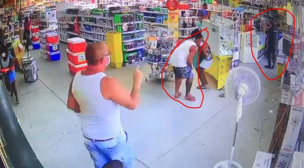 PM baleado na cabeça em tentativa de assalto a loja em Mesquita RJ