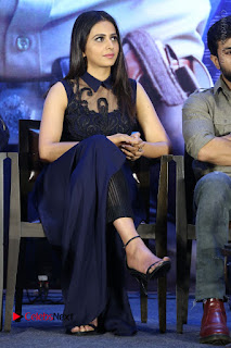 Actress Rakul Preet Singh Stills in Beautiful Blue Long Dress at Dhruva Salute to Audience Event  0078.JPG