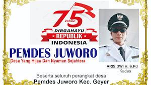Pemdes Desa Juworo Mengucapkan Dirgahayu Kemerdekaan RI ke 75