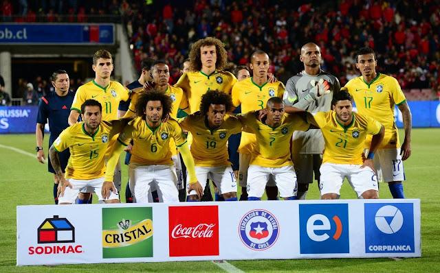Formación de Brasil ante Chile, Clasificatorias Rusia 2018, 8 de octubre de 2015