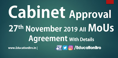 Cabinet Approval 27th November 2019 All MoU and Agreements with Details