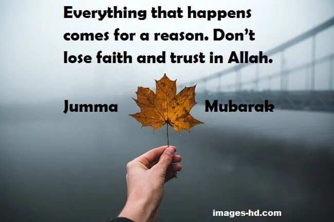 Don't lose faith and Trust Allah