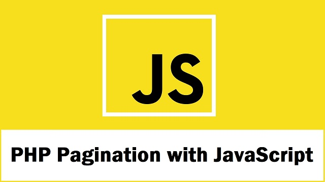 Ajax Pagination using PHP with JavaScript