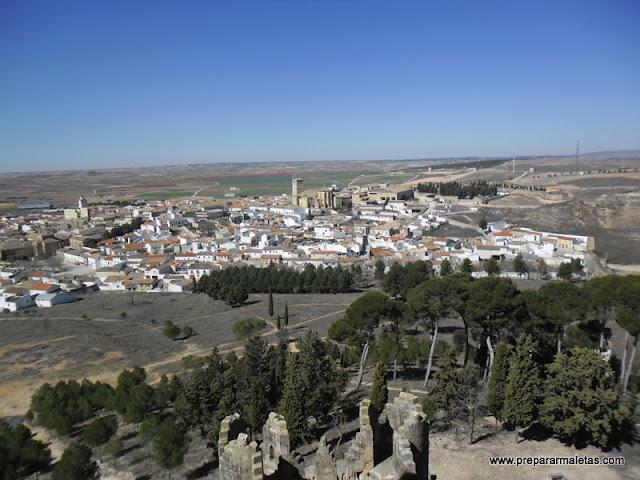 vistas desde las torres del Castillo de Belmonte