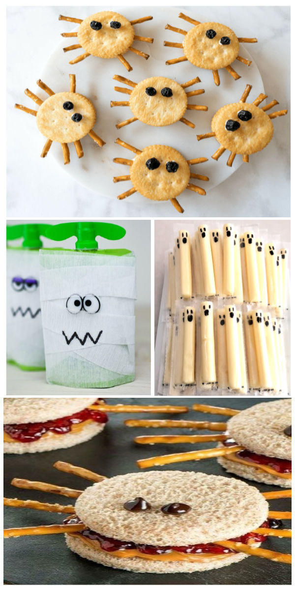 Tons of fun & creative Halloween food ideas for kids.  Great treat recipes for class parties, trick or treating, and more! #halloween #halloweenfoodideas #halloweenfoodforparty #halloweentreats #halloweentreatideas #halloweenpartyideas #halloweenpartyfood #halloweenpartyforkids #halloweenrecipes #growingajeweledrose #activitiesforkids #funfoodrecipesforkids
