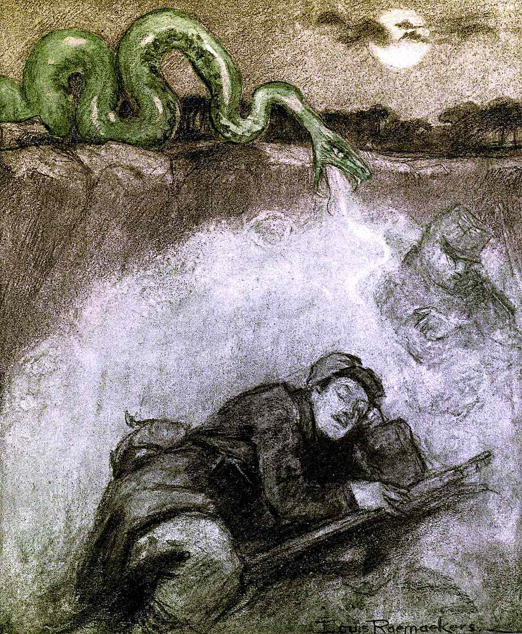 Louis Raemaekers,  the World War 1 use of poison gas