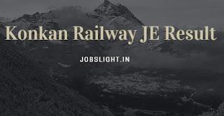 Konkan Railway JE Result