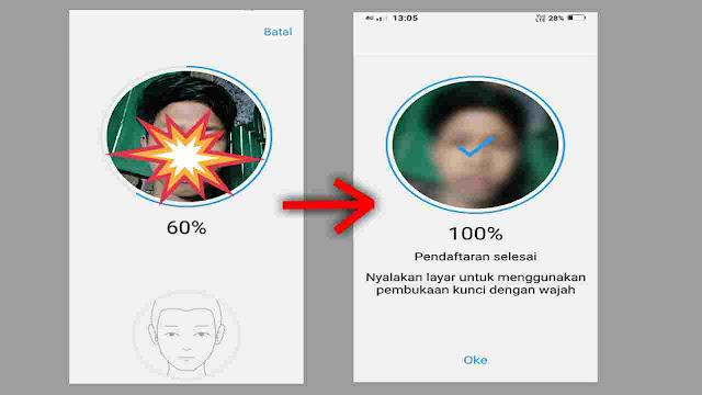 Cara Mengaktifkan kunci wajah di HP Vivo Semua Tipe