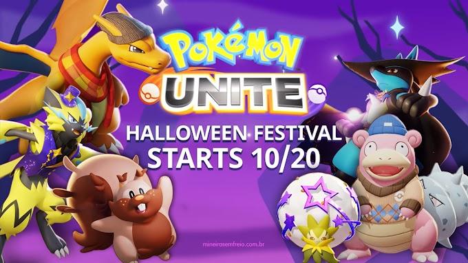 Festival de Halloween no Pokémon UNITE