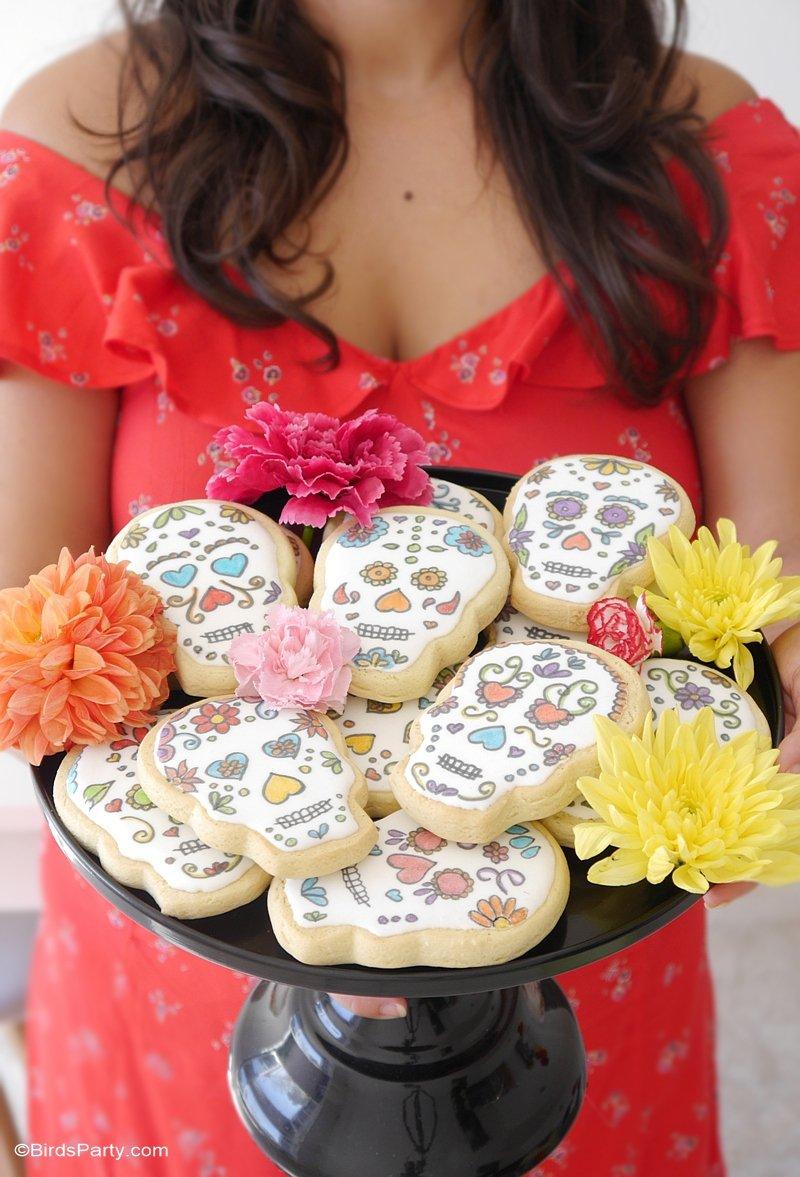 Cookies Crânes Mexicains Pour Dia De Los Muertos
