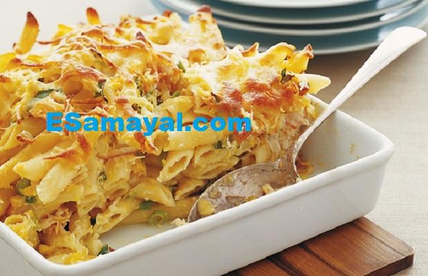 ஸ்வீட் கார்ன் பாஸ்தா செய்முறை   Sweet Corn Pasta Recipe !