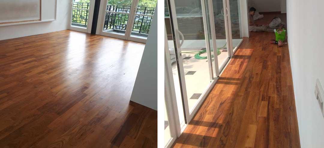 Flooring jati rumah tinggal