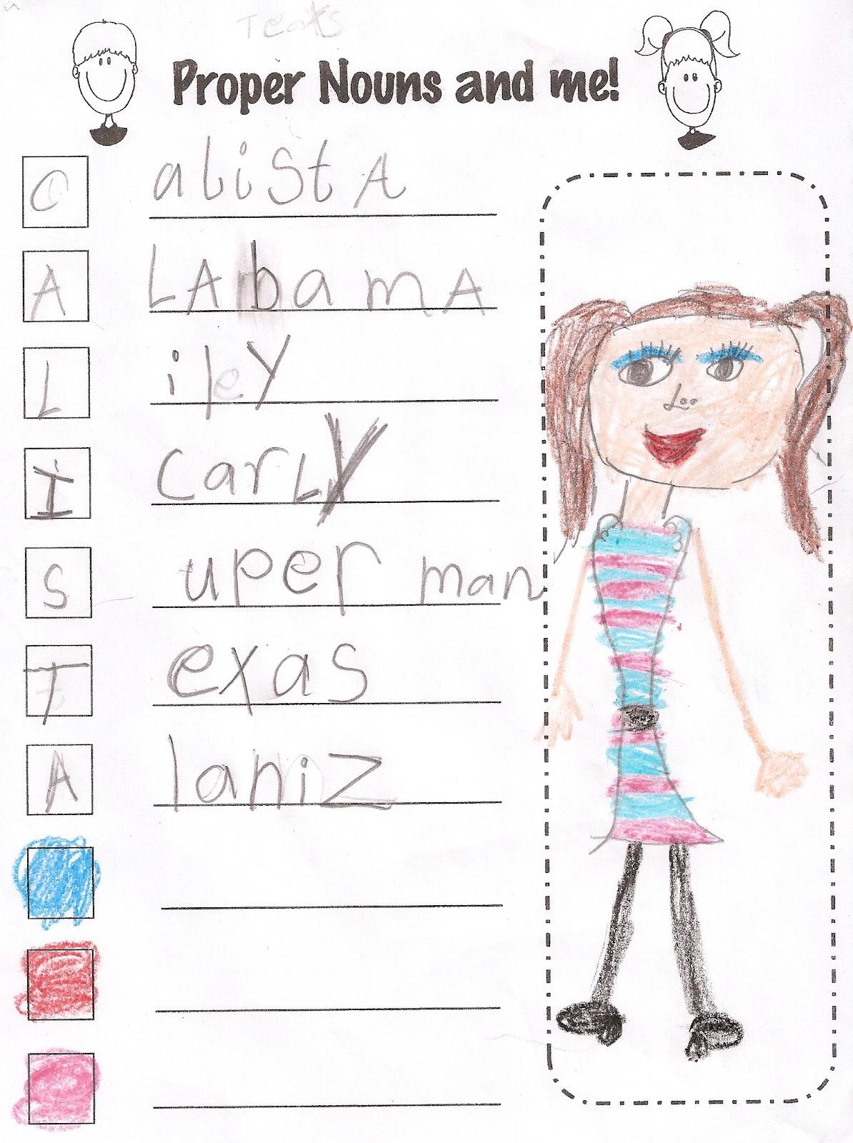 4th Graders In Mrs Marino S Class Make Common And Proper Noun Charts