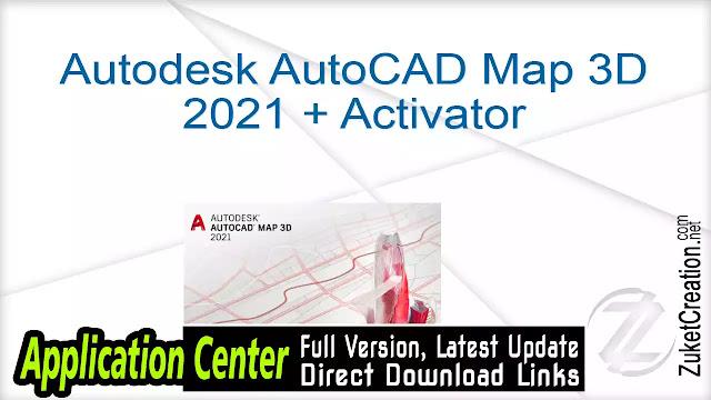 Autodesk AutoCAD Map 3D 2021 + Activator