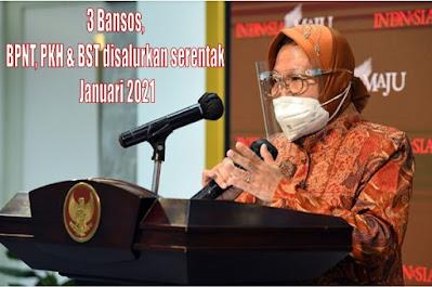Tiga Bansos, yaitu BPNT, PKH dan BST Serentak Cair bulan Januari 2021