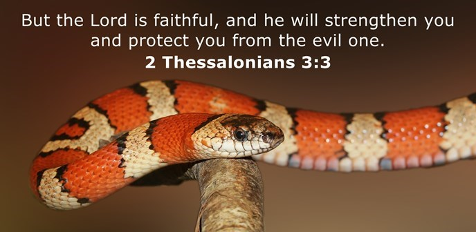But the Lord is faithful, and he will strengthen you and protect you from the evil one.