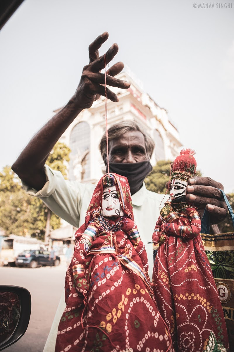 In the Hands of Puppeteer Street Photography Jaipur
