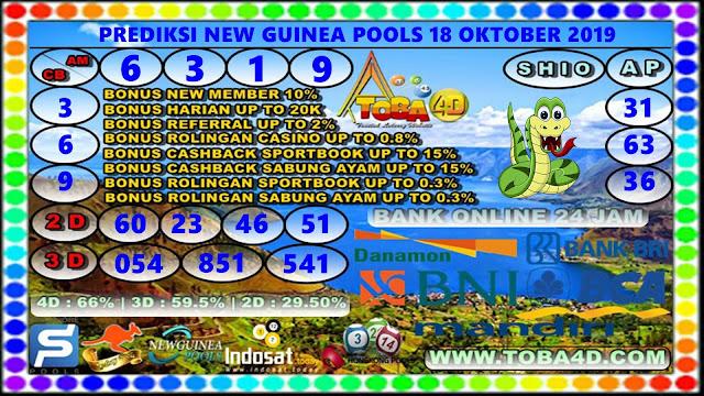 PREDIKSI NEW GUINEA 18 OKTOBER 2019
